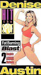 Denise Austin   Hit the Spot Gold Series Fat Burning Blast VHS, 2000