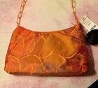 Mary Frances Black Ruffle and Burnout Velvet Beaded Bag Purse