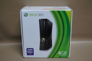 Newly listed Microsoft Xbox 360 Slim 4 GB Black Console Kinect Ready w