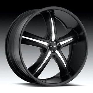 22 inch 22x9.5 Boss 334 black wheel rim 5x115 300C Charger Challenger