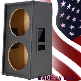 2X12 Vertical Slanted guitar Speaker Cabinet Empty Charcoal Black