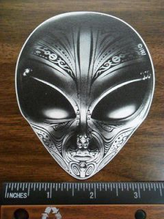 tattoo space Alien / UFO Car bumper sticker / decal. Area 51, 420