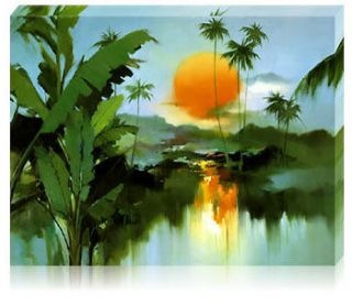 Framed Acrylic Paint by Number kit 50x40cm (20x16) Sunrise DIY