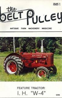 THE BELT PULLEY MAGAZINE 1989 VOLUME 2 NUMBER 6 ANTIQUE FARM MACHINERY