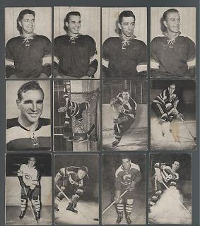 1952 53 St. Lawrence Sales Hockey Lot of 30 cards