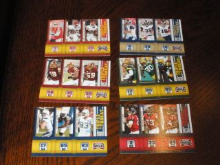 2011 PANINI THREADS TRIPLE THREATS PACKERS RODGERS DRIVER JENNINGS