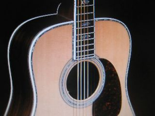SIGMA DREADNAUGHT ACOUSTIC GUITAR Abalone Inlay Solid Top Gold