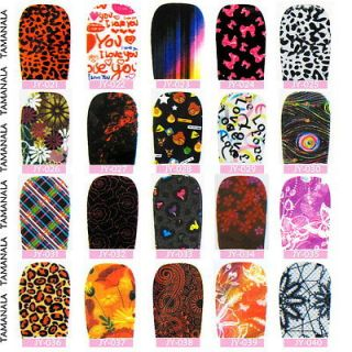 Polish Foils Strip Nail Sticker Tips Patch Wraps Decal Acrylic 021 040