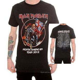 Maiden North American Tour 2012 metal rock T Shirt M L 2XL 3XL 4XL NWT