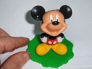 Disney Mickey Mouse Toy PVC Action Figure 2.5 with Stand Base Cake