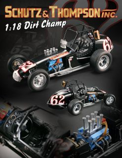 ACME 1:18 SCALE SCHULTZ & THOMPSON INC DIRT CHAMP SPRINT CAR