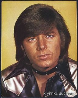 Bobby Sherman choker silky shirt PINUP 1970s #70.154
