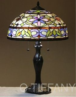 Tiffany Style Stained Glass Table Lamp Adagio