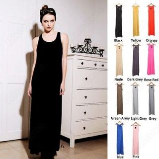 Simple Fashion Girls Modal Bottoming Skirt Camisole Vest Long Dress