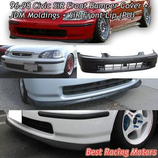 96 98 Civic 2/3/4dr SiR Front Bumper + JDM Molding + Front Lip
