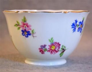 ADDERLEY FINE ENGLAND BONE CHINA CHINTZ FLORAL OPEN SUGAR BOWL