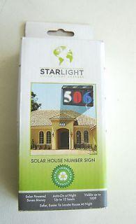 Solar Light Address Number. Solar House Number Sign. BLUE NUMBER