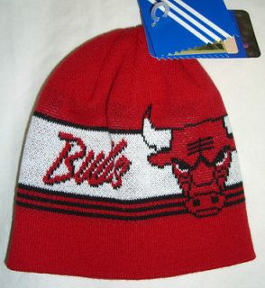 Chicago Bulls hat cap beanie winter warm Adidas NBA basketball knit