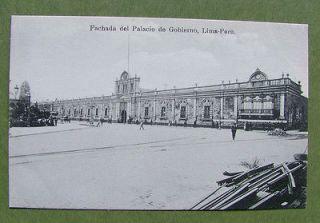 Fachada del Palacio de Gobierno,Lima,Peru. Divided Back Era (1907 1915