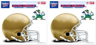 Notre Dame Helmet Ultra Removable & Reusable 6 X 5 Decals NCAA