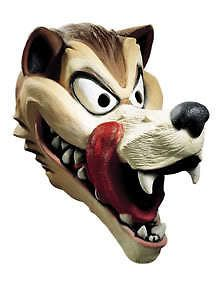 Adult Hungry Deluxe Big Bad Wolf Scary Costume Mask
