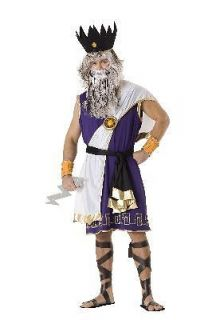 Adult Zeus Greek God Holloween Holiday Costume Party (Size: Standard