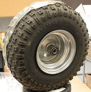 MURRAY 1201087 145/70 6 CHROME FRONT GO CART TIRE AND WHEEL ASSEMBLY