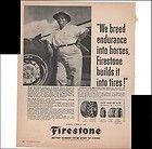 Firestone Farm Tractor Tire Thoroughbred Farm 1960 Vintage Antique