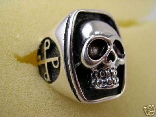 The Phantom Skull Ring Size 15, Silver Plated, Plus A Free Ring from