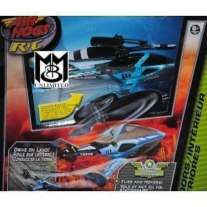 Air Hogs Radio Control Razor Helicopter With Landing Gear Blue New