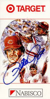 Pete Rose Cincinnati Reds Autographed Nabisco Target Promo Vintage