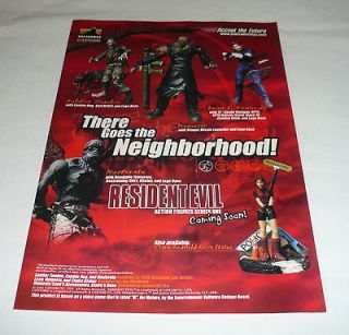 game action figures ad page~RESIDENT EVIL There Goes Neighborhood v.2