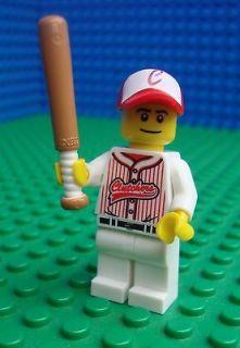 Lego Baseball Player minifig Bat Town City Sport 8803