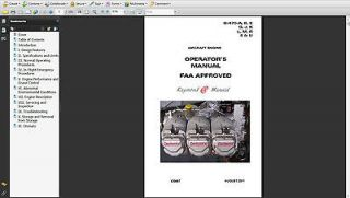 Aircraft Engine O 470 Overhaul Operator Manual on CD Free parts manu