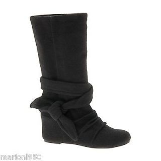 ALDO LADIES WOMENS BLACK WEDGE FINEBERG BOOTS SIZE 7 / 40 BRAND NEW