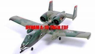 RC JET AIRPLANE DYNAM A 10 JUNGLE CAMO 4CH TWIN 64MM EDF 2.4GHz RTF!