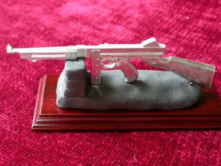 WW2 Thompson SMG Deskpiece Display Sculpture