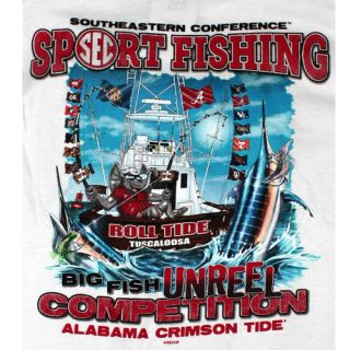 Alabama Crimson Tide Football T Shirts   Biggest Catch Go Deep SEC
