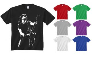 Youth Kids Childrens Dave Grohl Foo Fighters Guitar Rock T shirt NEW
