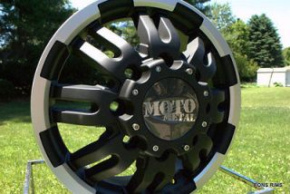 MOTO METAL BLACK MACHINED 963 DUALLY 16 X 6 FORD CHEVY DODGE GMC
