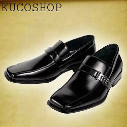 Aldo Men Dress Shoes Slip On Black Buckle Size 10