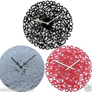 Modern Style Home Room Decor Wall Clock Clocks Black Red White Color