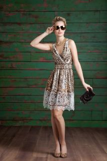 Alberto Makali 55962 Brown Animal Print Dress Size S M L XL New NWT