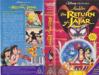 ALADDIN THE RETURN OF JAFAR WALT DISNEY VHS VIDEO PAL~ A RARE FIND~