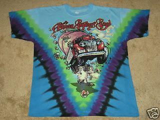 Allman Brothers Band, The Mushrooms M, L, XL, 2XL Tie Dye T Shirt