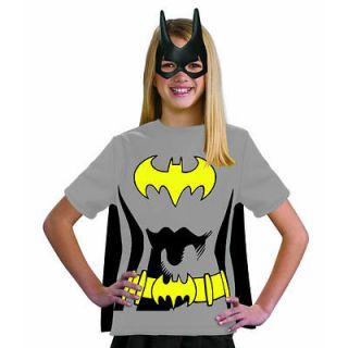 Batgirl CHILD Costume Kit Size S Small 4 6 T Shirt Cape Mask NEW