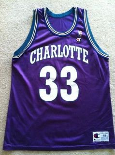 Nba Jersey Vtg Alonzo Mourning Charlotte Hornets Champion Jersey Shirt