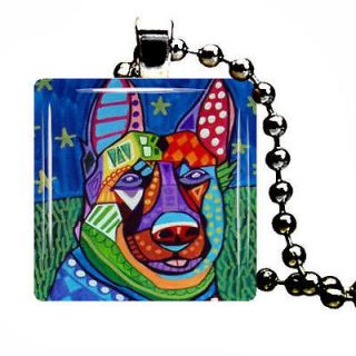 German Shepherd Pendant Necklace Dog Tag Jewelry Christmas Gift Charm