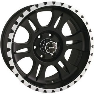 16x8 Black Alloy Ion Style 195 Wheels 5x5  5 Lifted JEEP WRANGLER