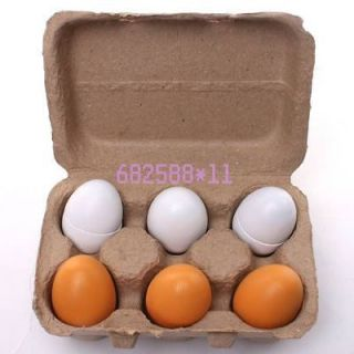 eggs 670053 Playing Kitchen Food Cooking Wooden Eggs Children Kid Toy